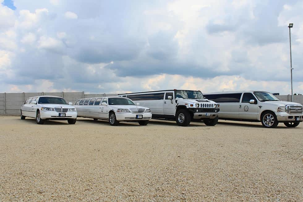 Négy limuzinunk a limocenternél